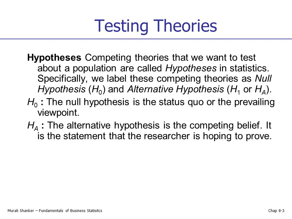 Testing Theories