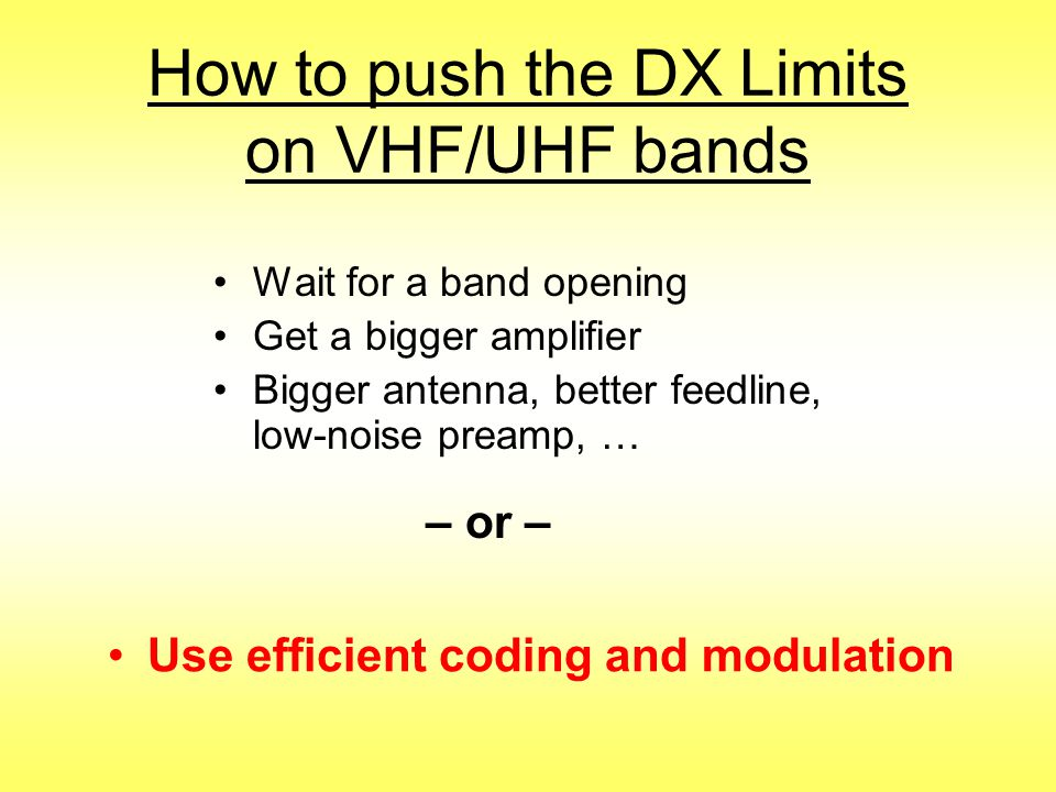 How to push the DX Limits on VHF/UHF bands