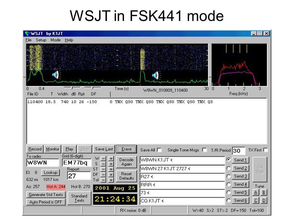 WSJT in FSK441 mode