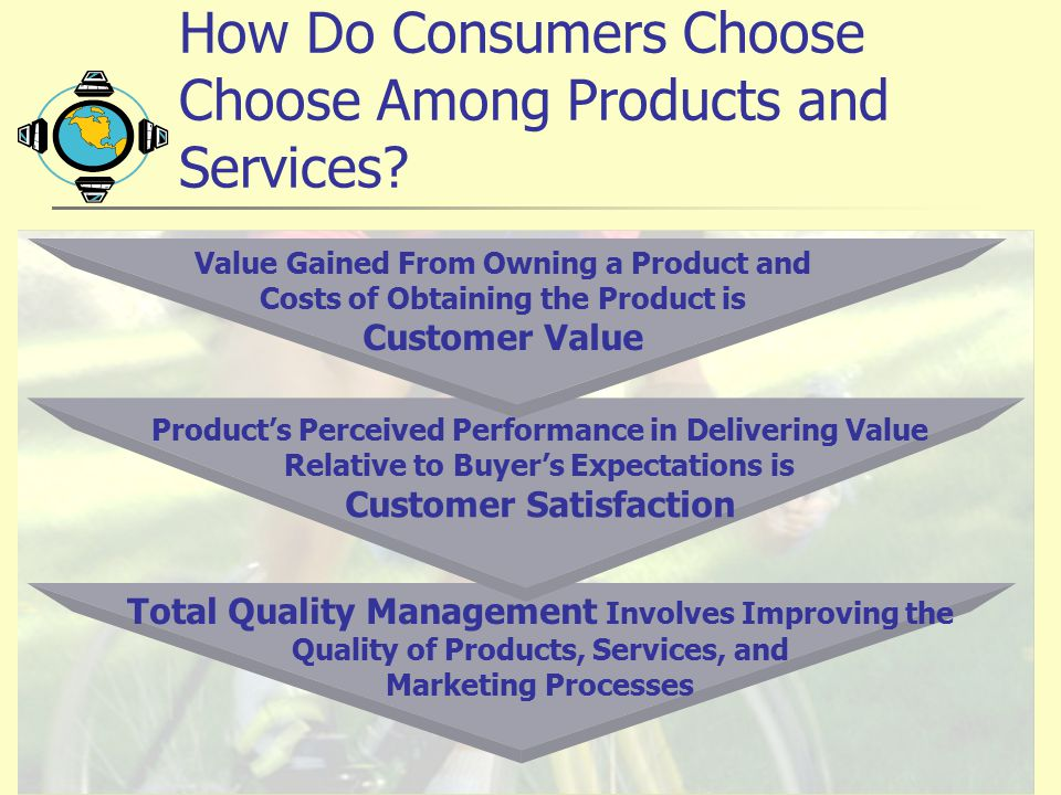 How Do Consumers Choose Choose Among Products and Services