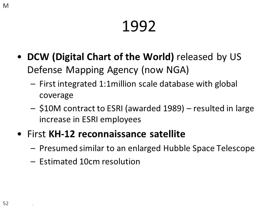 History Of GIS The Commercial Era To Ppt Download - Us defense mapping agency
