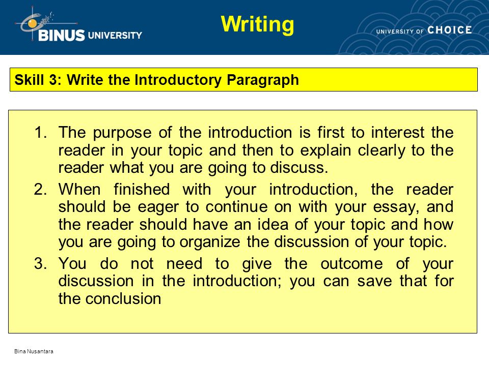 writing an introduction paragraph powerpoint