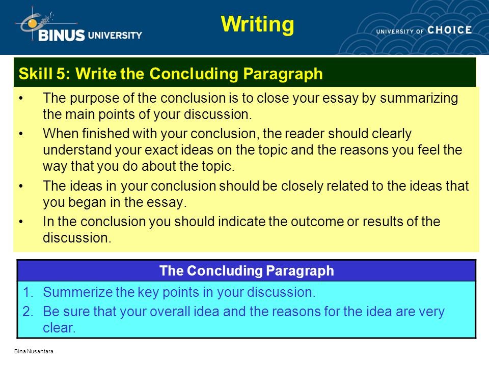 how to write a conclusion for a discussion essay