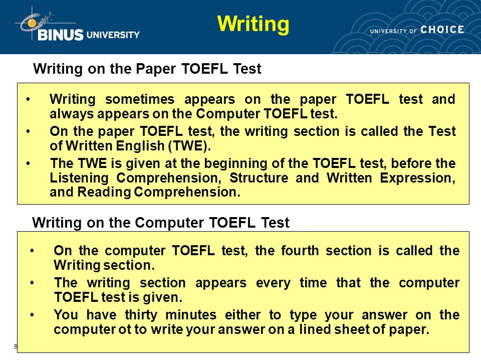 toefl essay answers Toefl® ibt sample questions you will answer questions about three reading passages an essay about a topic of general interest based on your experience.