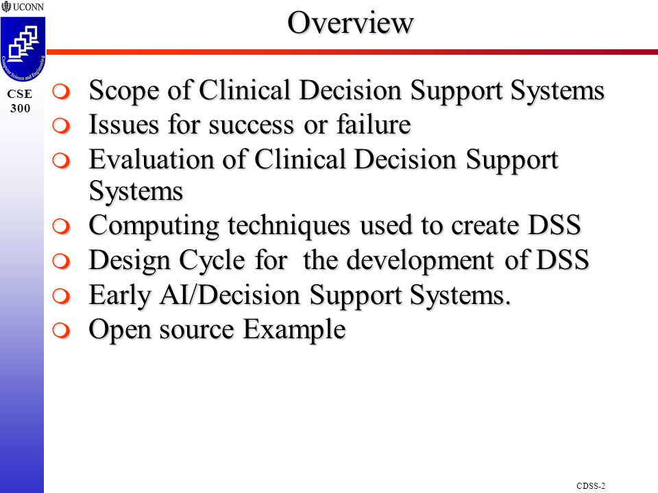 Clinical Decision Support Systems - ppt download