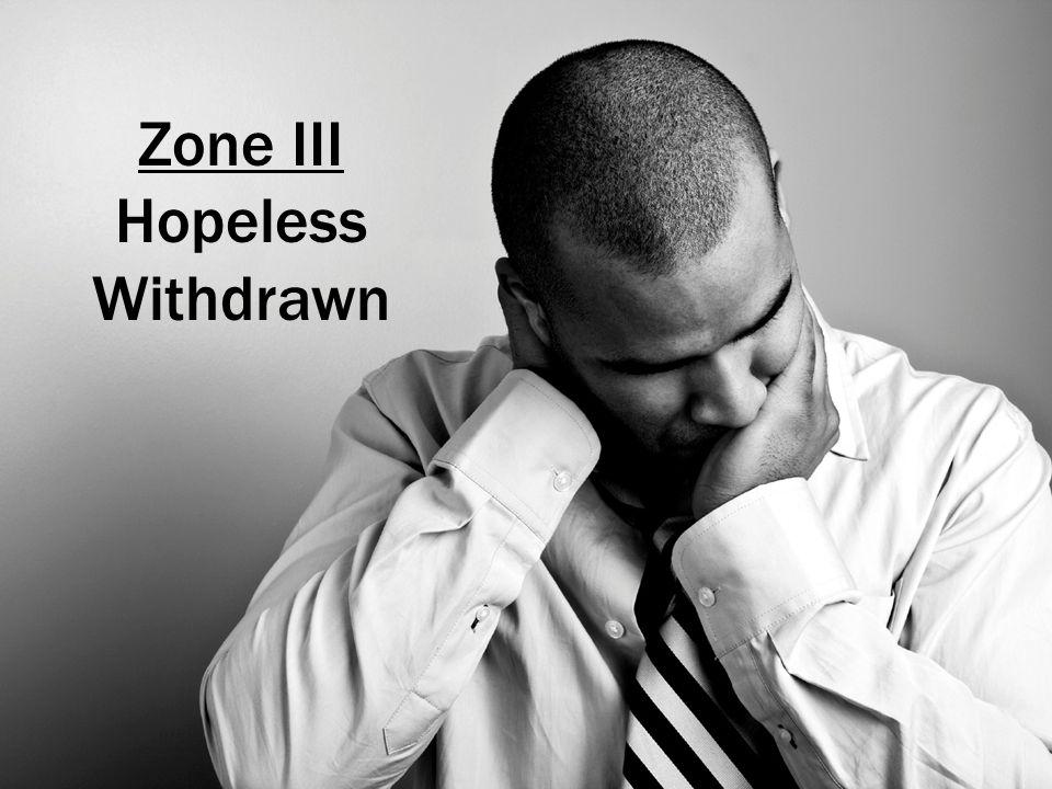 Zone III Hopeless Withdrawn