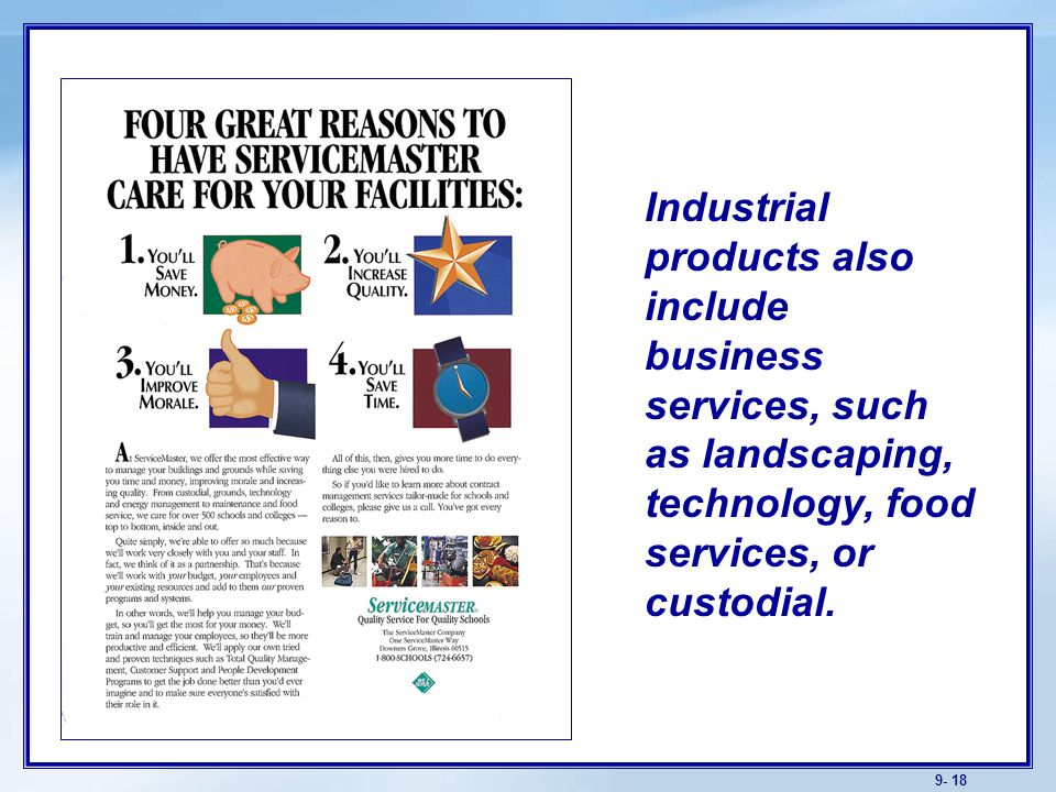 product and service classifications Classification of services help her customers improve their products and services by improving the in this chapter how classification can help you in your.