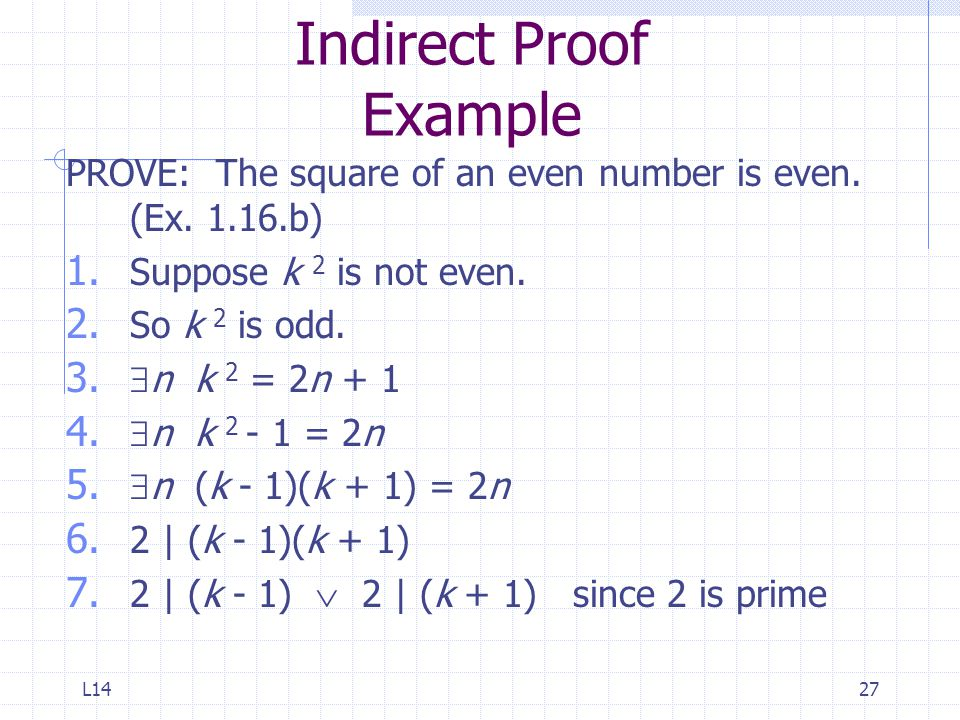 Indirect Proof Example