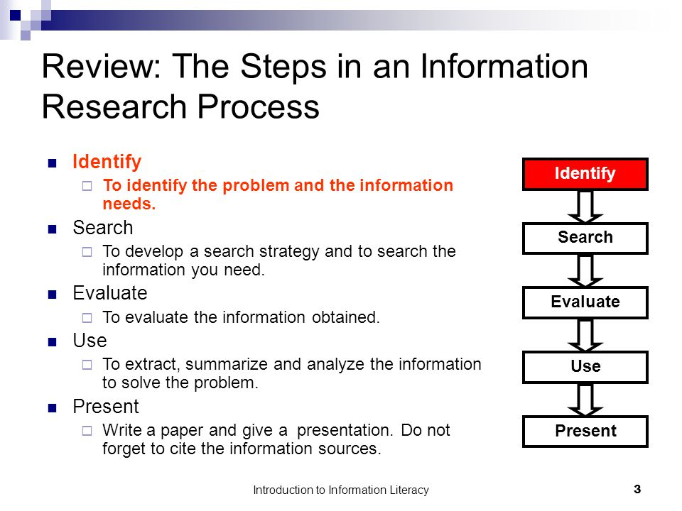 information needs and sources