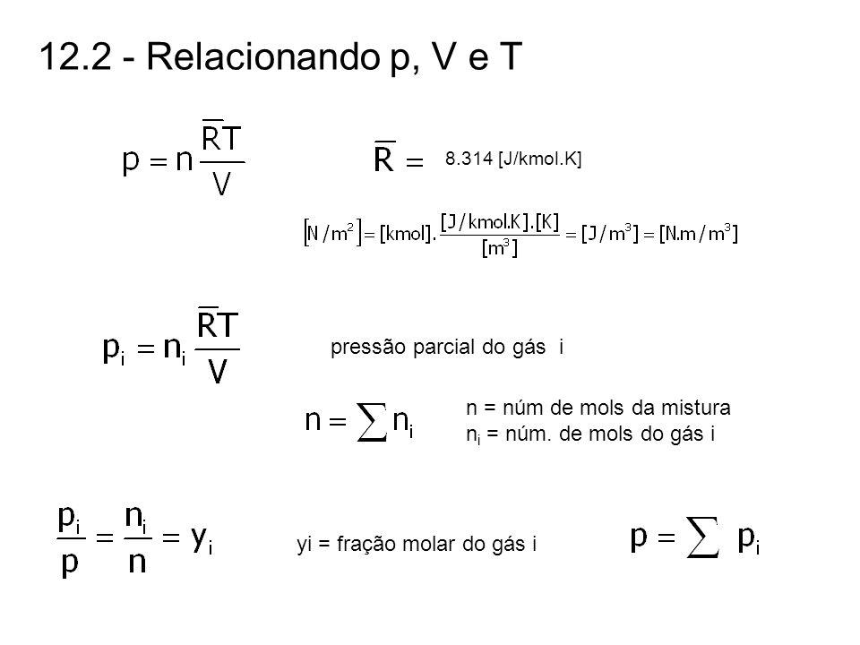 12.2 - Relacionando p, V e T pressão parcial do gás i