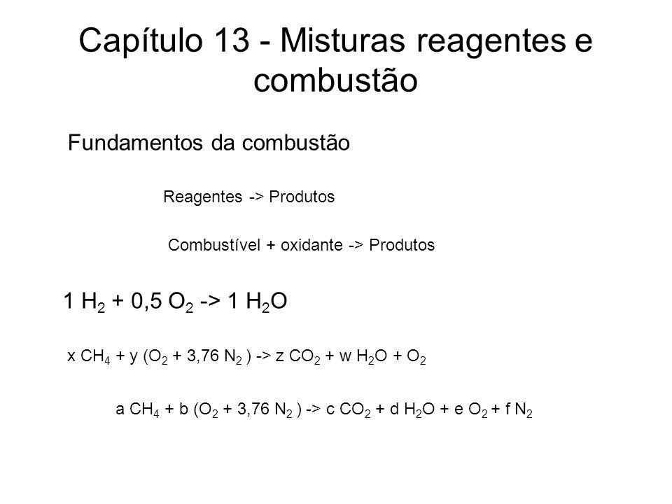 Capítulo 13 - Misturas reagentes e combustão