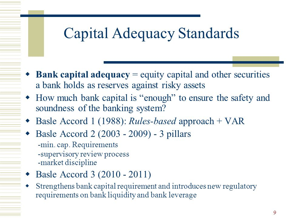 review of capital adequacy requirements for Uk authorities increase capital adequacy requirements for the banks- will fx sector emulate the us read more.