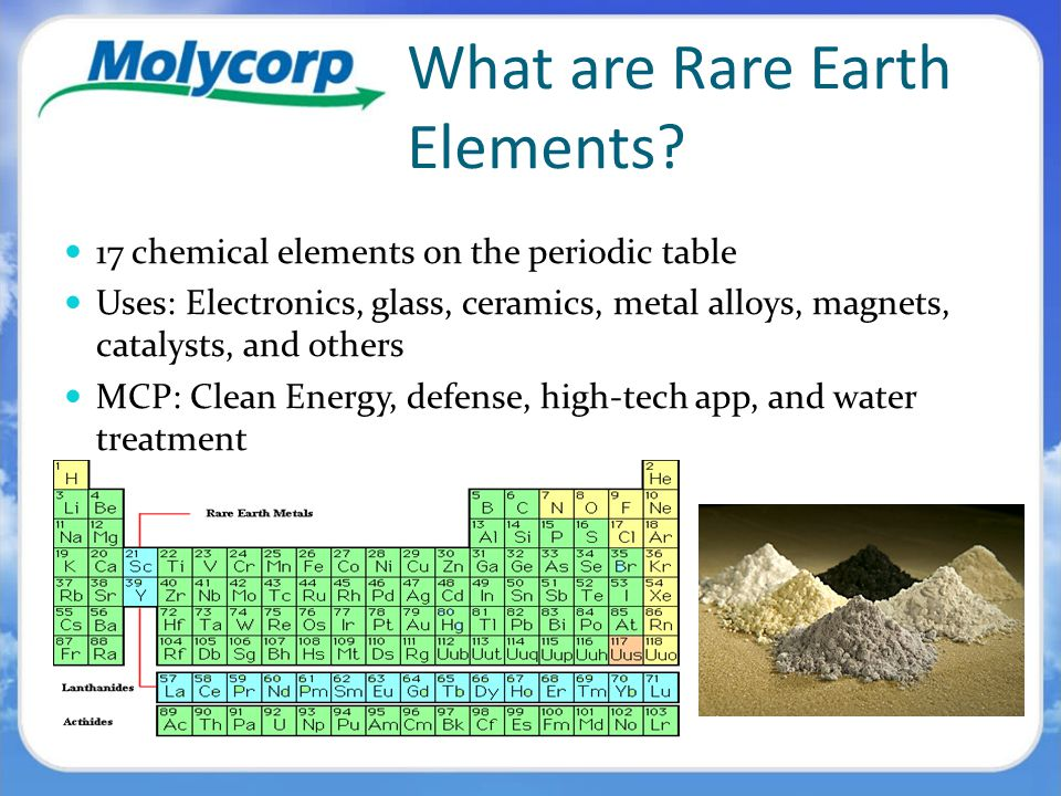 Molycorp minerals rare earths company ppt video online download what are rare earth elements urtaz Images