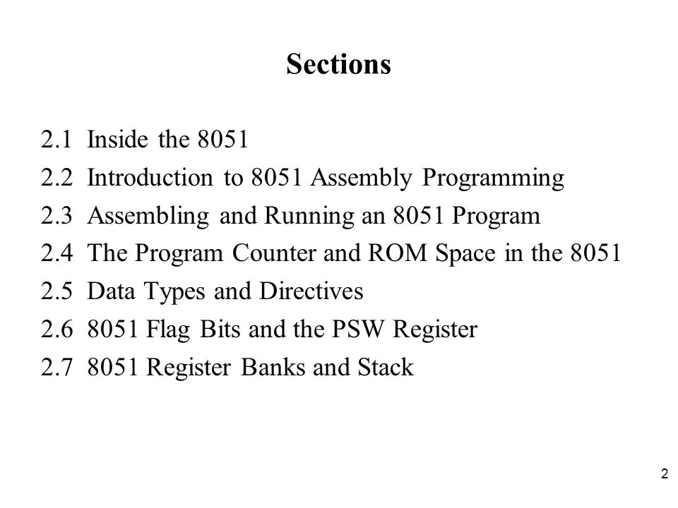 Chapter 2 the 8051 assembly language programming ppt download 22 introduction to 8051 assembly programming 23 assembling and ccuart Images