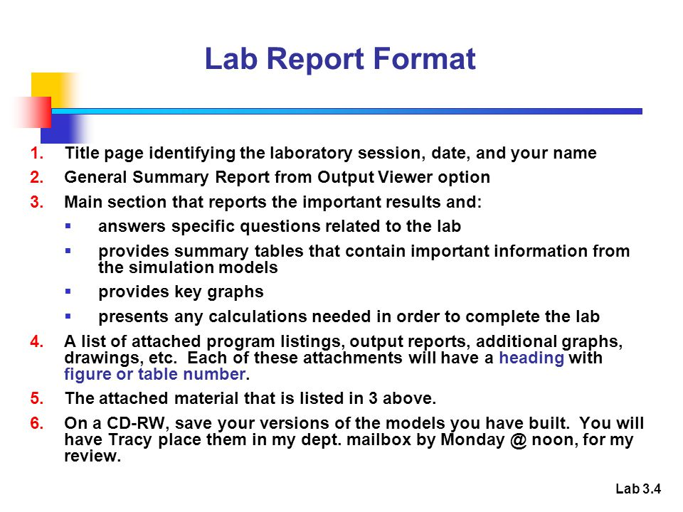 lab title page format