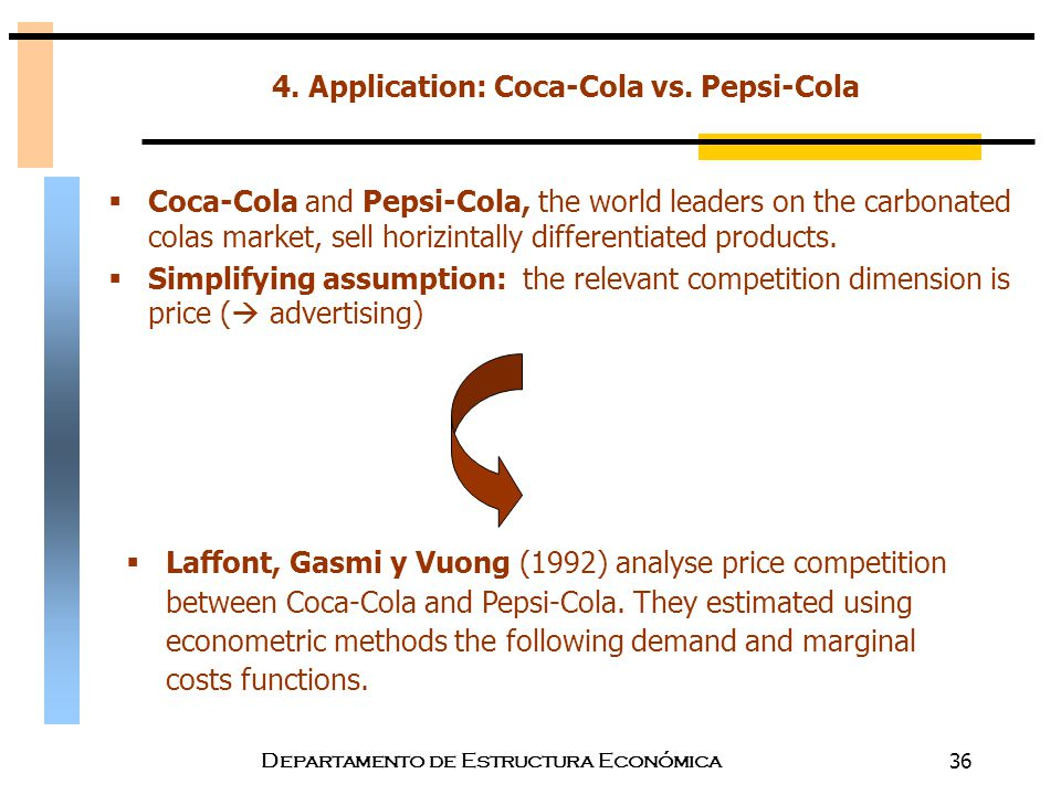 product differentiation of coca cola and pepsi View coca-cola life product facts view coca-cola life on journey dasani pure, crisp dasani delivers fresh taste with a clean, fresh style dasani drops is the .