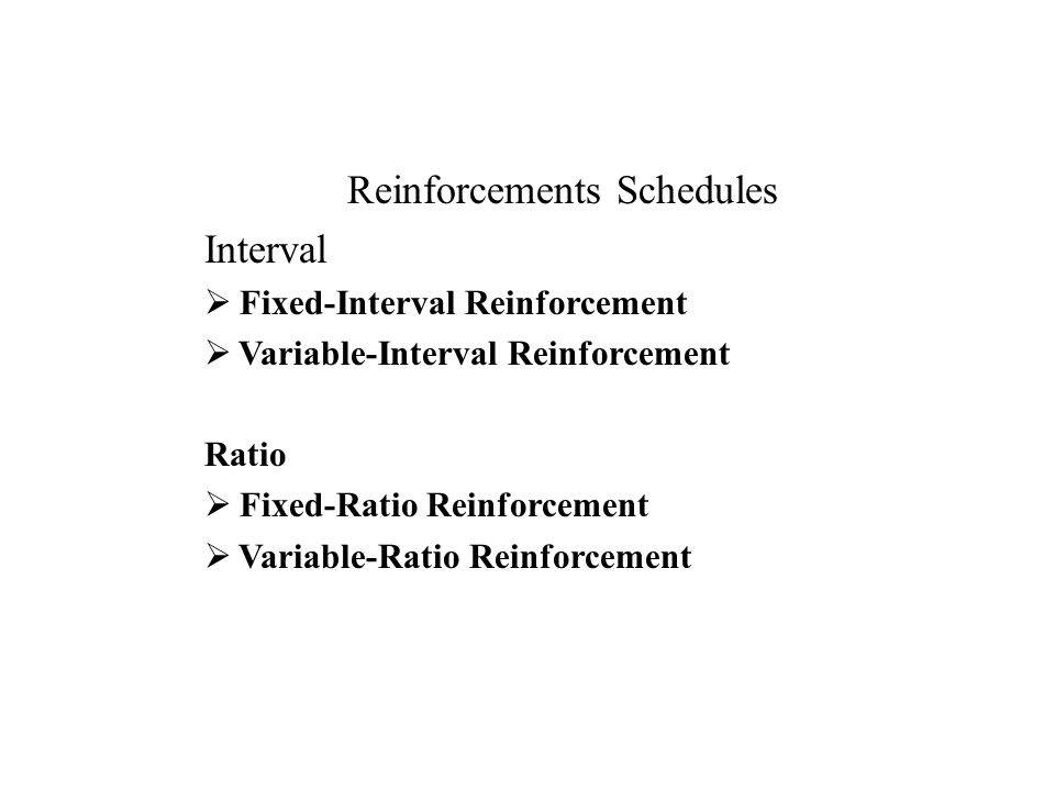 role of schedules of reinforcement Positive reinforcement is the process of recognizing and rewarding a desired behavior in an effort to encourage its continuance positive reinforcement can consist of praise, offering incentives.