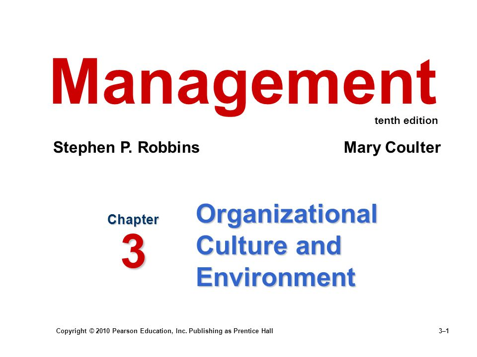 Organizational Culture and Environment