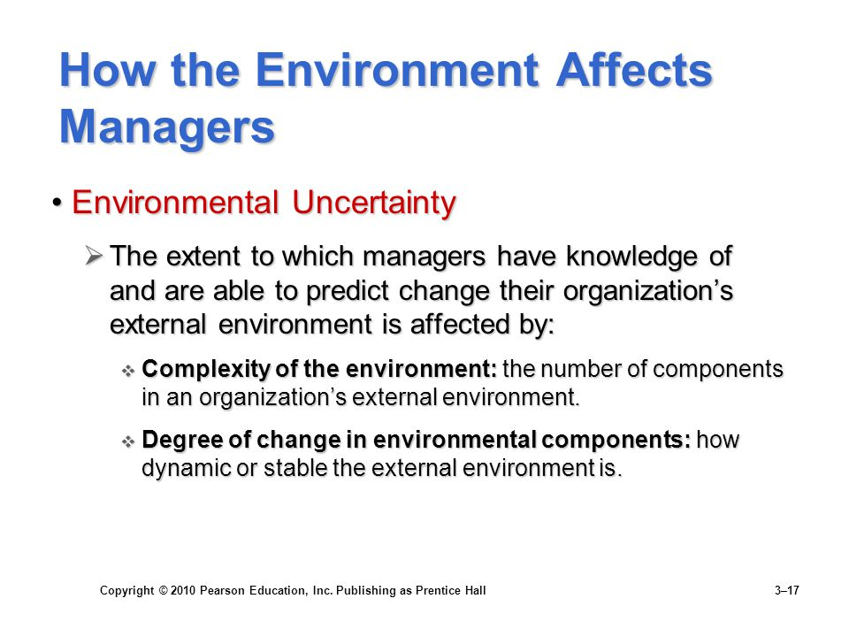 How the Environment Affects Managers