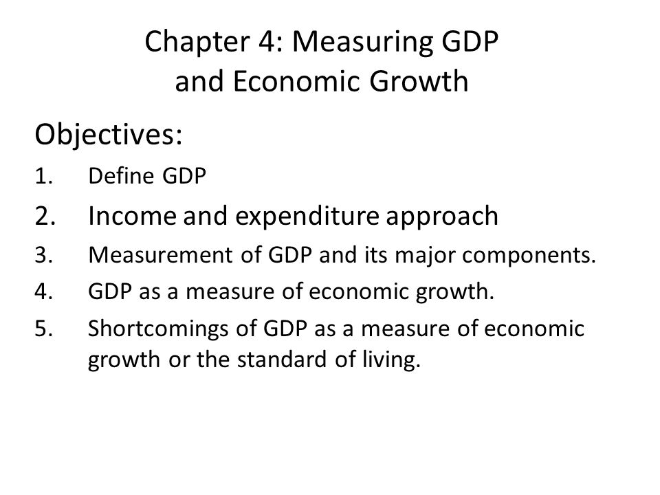 economic growth as a measure of How to measure the economic growth of a country economic growth is now measured by increases in a country's per capita net national product economists often do this not because they are convinced of the theoretical and statistical accuracy of these figures as indicators of development, but rather.
