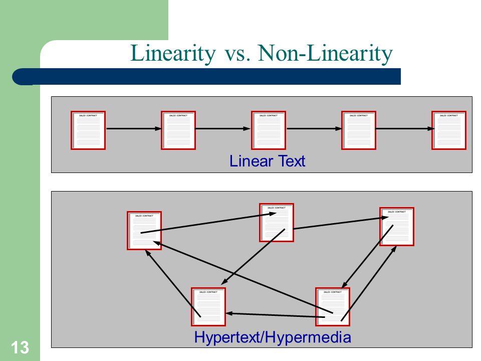 Linearity vs. Non-Linearity