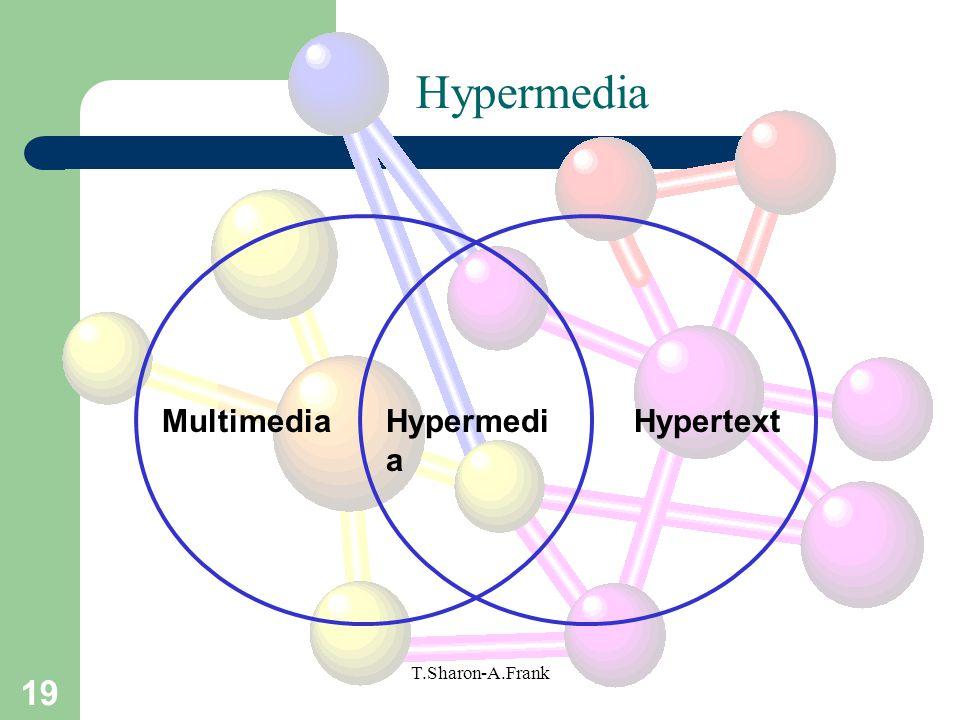 Hypermedia Multimedia Hypermedia Hypertext T.Sharon-A.Frank