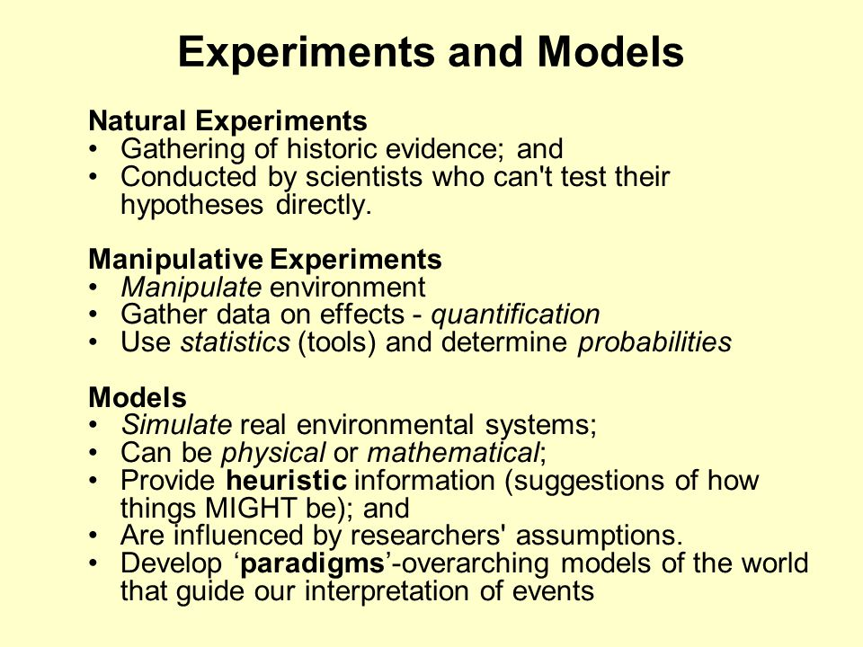 What Information Can One Gather In Natural Experiment