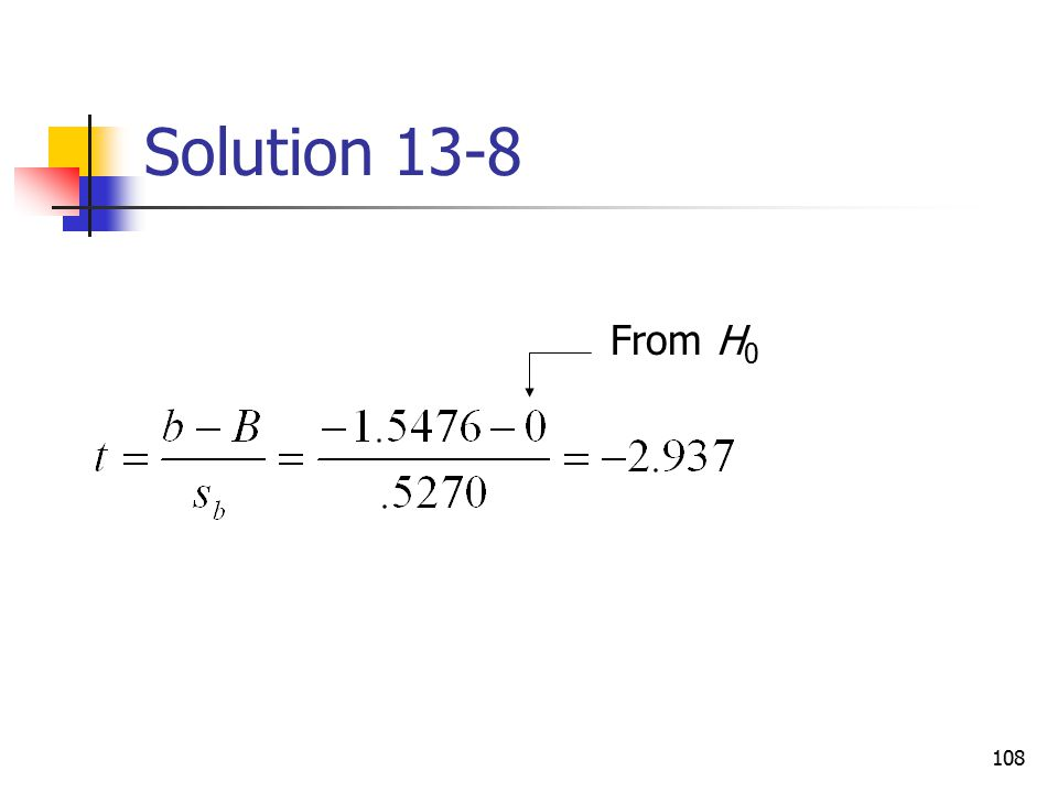 Solution 13-8 From H0