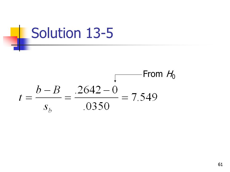 Solution 13-5 From H0