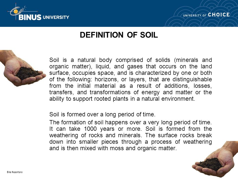 Topic 1 introduction to soil mechanic ppt download for Meaning of soil formation