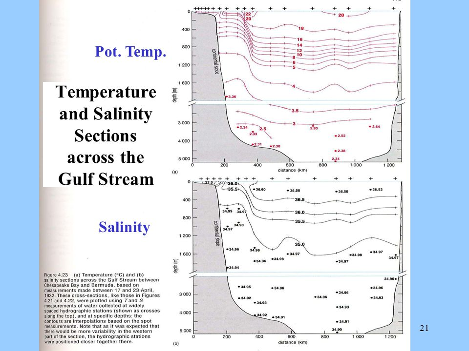Temperature and Salinity Sections across the Gulf Stream