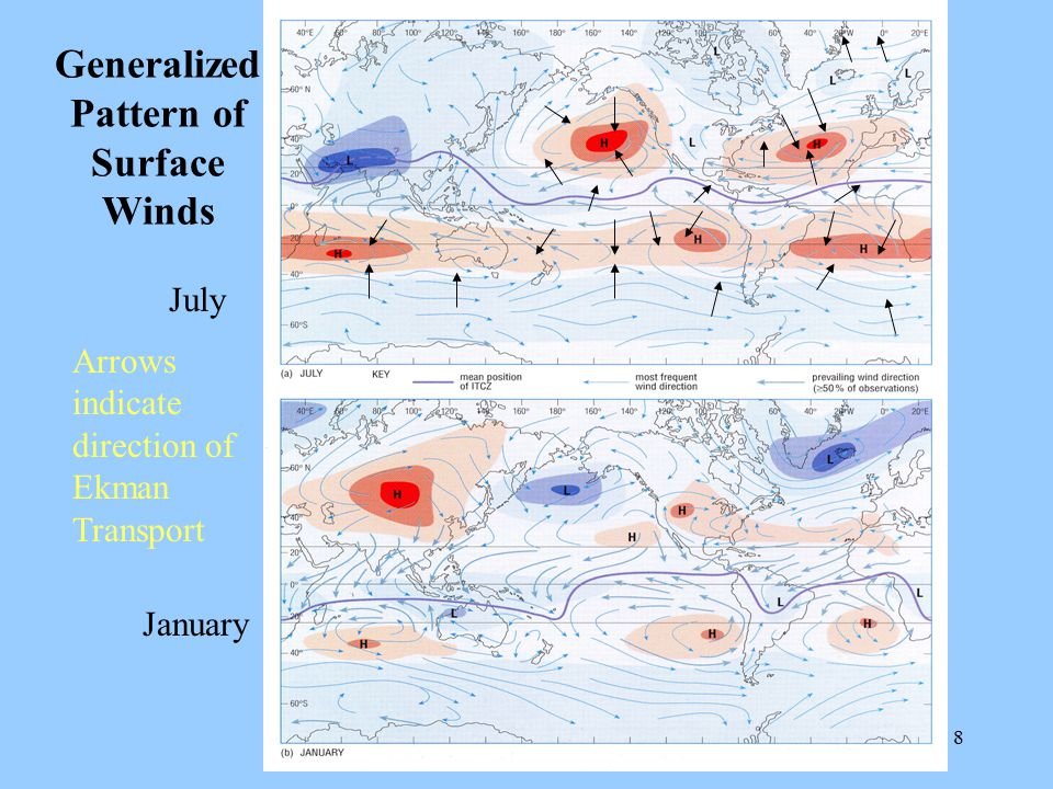 Generalized Pattern of Surface Winds