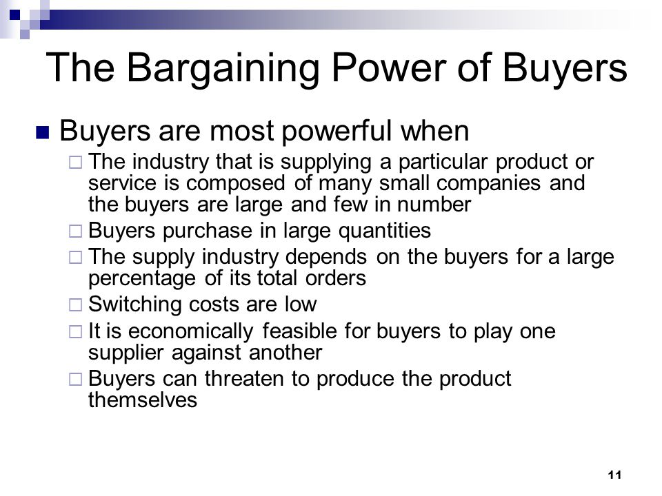buyer bargaining power in video game industry The bargaining power of buyer becomes higher as well, as buyers condition their purchases on the price-performance ratio of the product as the number of video games players goes up, the demand for a larger library of games rises.