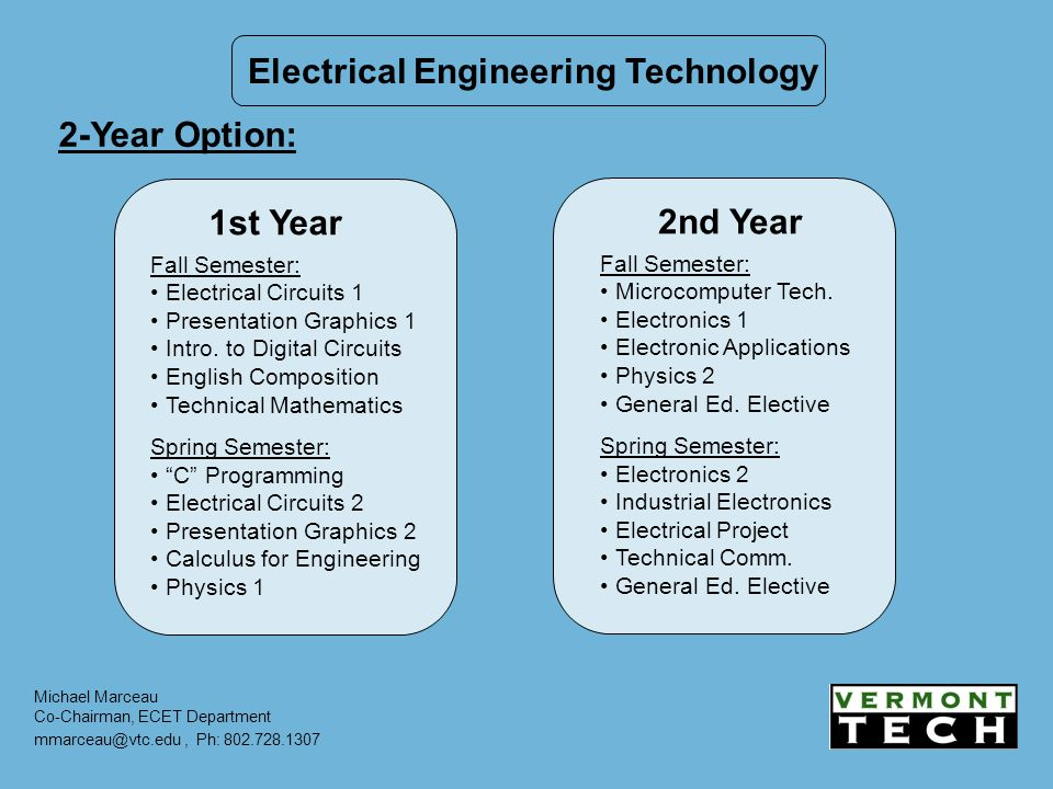 Vermont Technical College Associates in Engineering Degree - ppt download