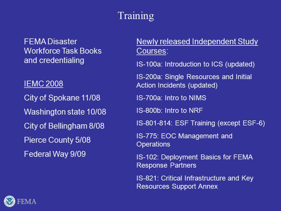 FEMA Independent Study Courses - RedRover