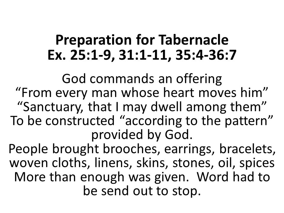 6 Preparation for Tabernacle  sc 1 st  SlidePlayer & The Tabernacle Hebrew word meant u201ctentu201d Very costly expensive ...