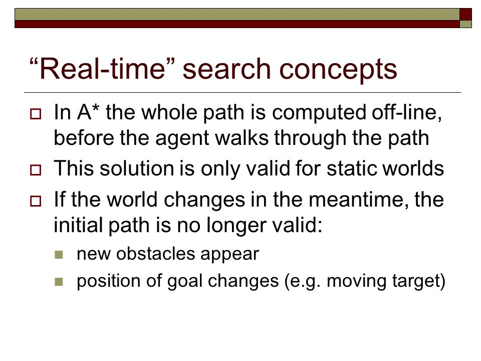 Real-time search concepts