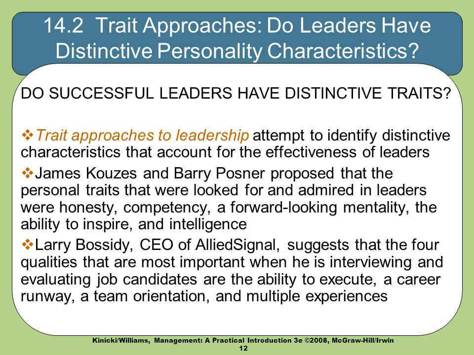 Leadership Ch. 14 Management A Practical Introduction ...