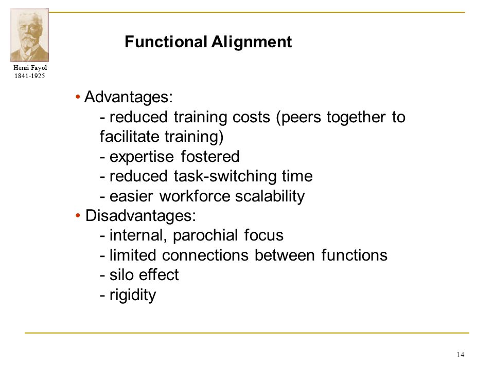 Functional Alignment • Advantages: - reduced training costs (peers together to facilitate training)