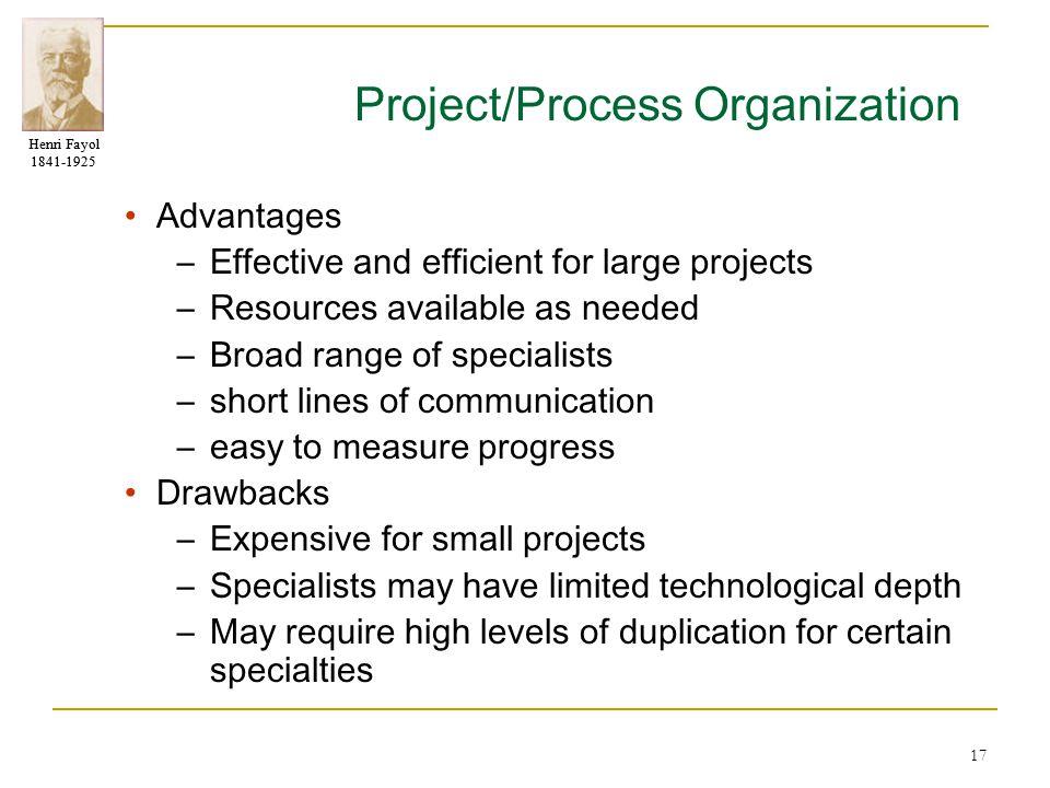 Project/Process Organization