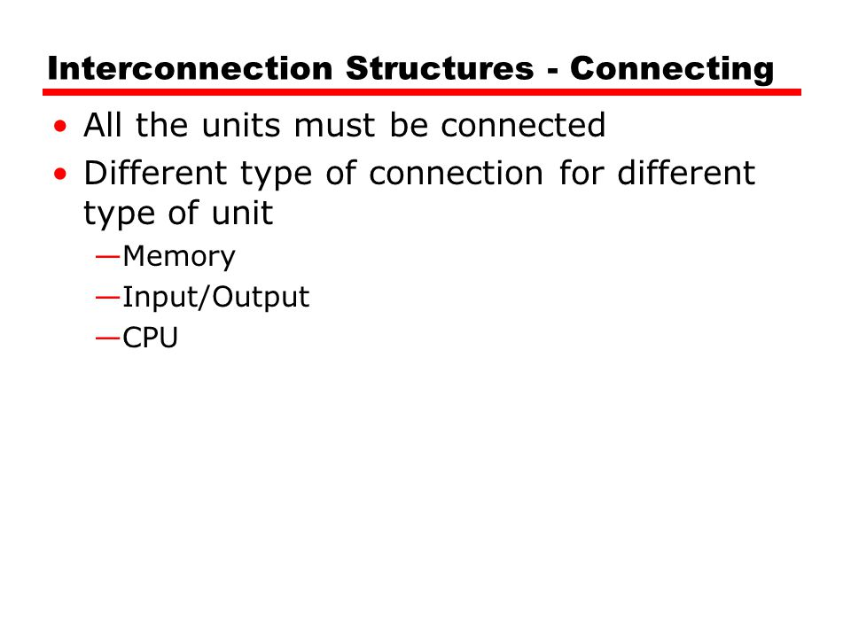 Interconnection Structures - Connecting