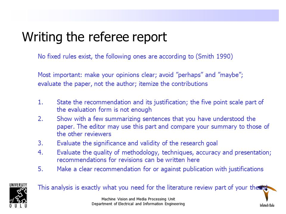 Refereeing a research paper
