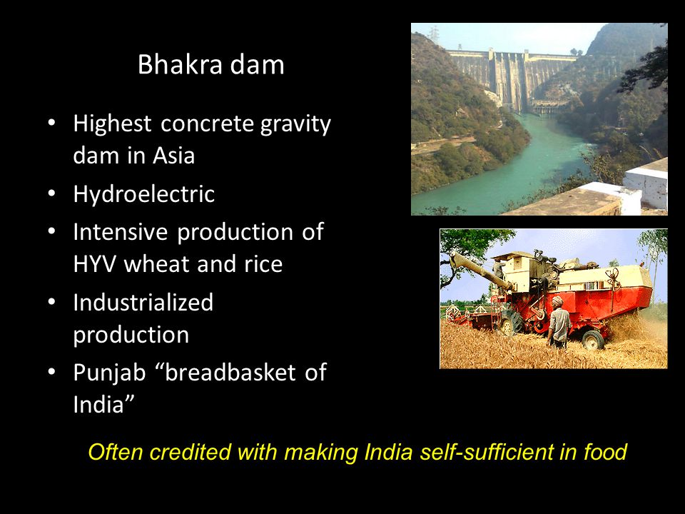 Bhakra dam Highest concrete gravity dam in Asia Hydroelectric