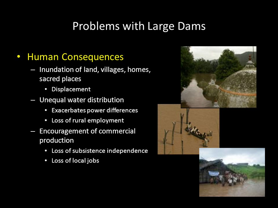 Problems with Large Dams