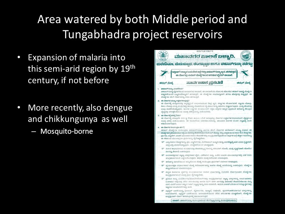 Area watered by both Middle period and Tungabhadra project reservoirs