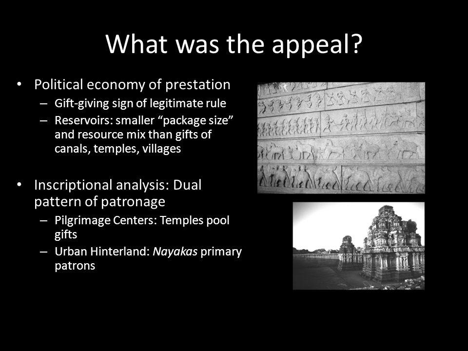 What was the appeal Political economy of prestation