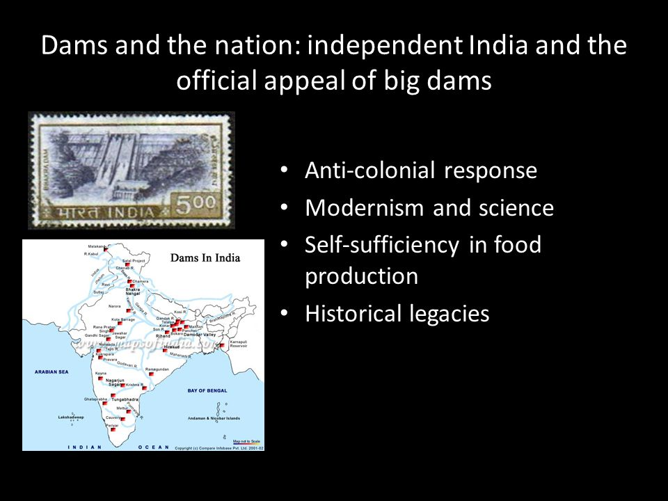 Dams and the nation: independent India and the official appeal of big dams