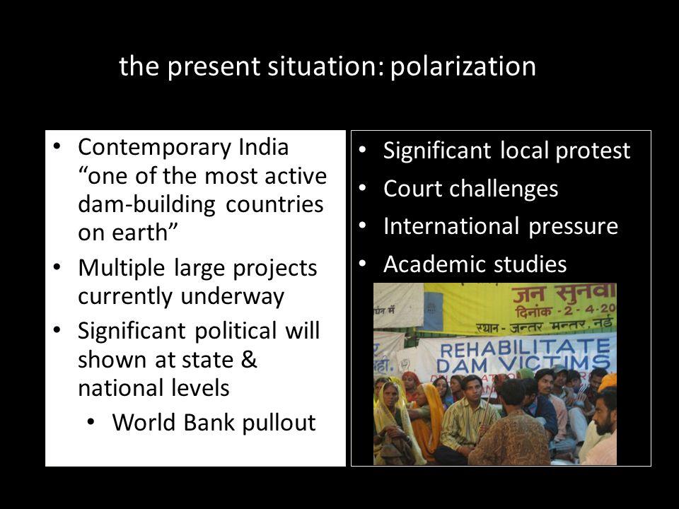 the present situation: polarization