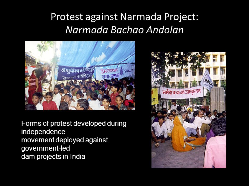 Protest against Narmada Project: Narmada Bachao Andolan
