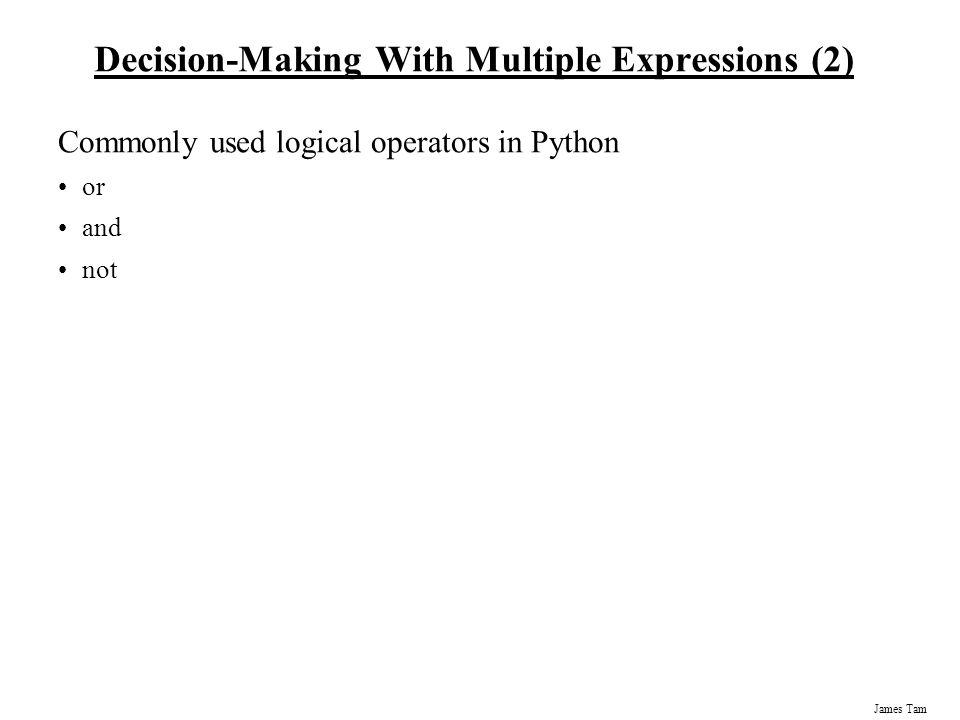 Decision-Making With Multiple Expressions (2)